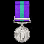 General Service Medal 1918-1962, GVI, 1 Clasp: Palestine 1945-48 awarded to Private C.E.J. Burnel...