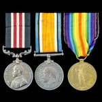 Great War German Spring Offensive Military Medal group awarded to Private and acting Lance Corpor...