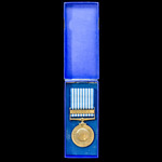 Greece: United Nations Korea Medal, rare Greek issue. Housed in its original card box of issue.