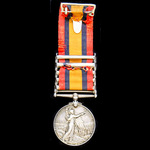 A Queen's South Africa Medal 1899-1902, 5 Clasps: Cape Colony, Orange Free State, Transvaal, Sout...