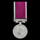 Regular Army Long Service and Good Conduct Medal, GVI 2nd type bust, awarded to Sergeant J.H. Say...