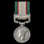An India General Service Medal 1936-1939, 1 Clasp: North West Frontier 1936-37, awarded to Sepoy ...