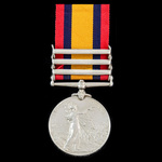 Queen's South Africa Medal, 3 Clasps: Cape Colony, Orange Free State, Transvaal awarded to Privat...