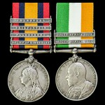 A South Africa Boer War pair awarded to Private E. Barrett, 2nd Battalion, East Kent Regiment – T...