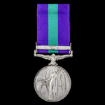 General Service Medal 1918-1962, GVI, 1 Clasp: Palestine 1945-48 awarded to Private M. Rounds, 2n...