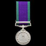 Campaign Service Medal 1962, 1 Clasp: Malay Peninsula, awarded to Police Constable Moula Baksh,  ...