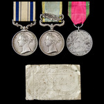 The very fine South Africa Third Kaffir War 1850 to 1853 and Crimean War group awarded to Private...