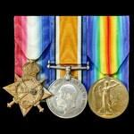 A Great War ANZAC Gallipoli casualty 1914-1915 trio awarded to Sapper F. Burton, 1st Field Compan...