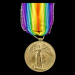 Victory Medal, awarded to Rifleman A.J.E. Smith, Rifle Brigade attached to the 8th City of London...