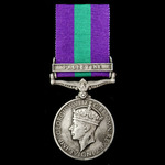 General Service Medal 1918-1962, GVI 1st type, 1 Clasp: Palestine awarded to Driver J.H. Farr, 19...