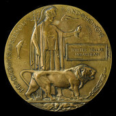   A Great War Mesopotamia July 1916 Officer Casualty Memorial Plaque named to Walter Millar McLa...