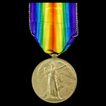 Victory Medal awarded to Acting Corporal G.P. Kingsley, Army Service Corps, later a Private in th...