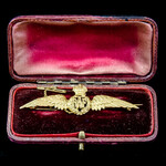 """Great War period to circa 1930's Royal Air Force """"R.A.F."""" 9 carat Gold Tie Pin / Sweetheart Brooc..."""
