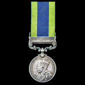 India General Service Medal 1908-1935, 1 Clasp: North West Frontier 1935 awarded to Private H. Mc...