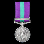 General Service Medal 1918-1962, GVI 1st type bust, 1 Clasp: Palestine, awarded to Private C.R. M...