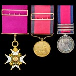 The exceptional Field Officer's Gold Medal for Vittoria and Peninsular War Service 1815 Companion...