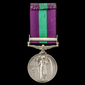 General Service Medal 1918-1962, GVI, 1 Clasp: Palestine, awarded to Lance Corporal J.T. Welsh, E...