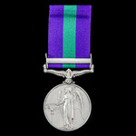 General Service Medal 1918-1962, GVI, 1 Clasp: Palestine 1945-48 awarded to Private T. Brown, 8/9...