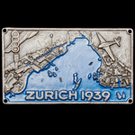 Switzerland: Fourth Swiss National Exhibition 1939 Commemorative Plaque, uniface plated and paint...