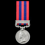 India General Service Medal 1854-1895, 1 Clasp: Northwest Frontier awarded to Private P. Young, 3...
