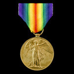 Victory Medal awarded to Private N. Beldan, 6th Service Battalion, Oxfordshire and Buckinghamshir...