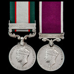 India North West Frontier 1937 to 1939 and Regular Army long service group awarded to Sergeant W....