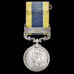 India General Service Medal 1908-1935, 1 Clasp: North West Frontier 1930-31 awarded to Corporal H...