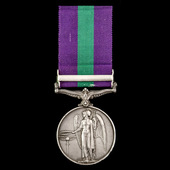 General Service Medal 1918-1962, GVI, 1 Clasp: Palestine 1945-48, awarded to Corporal E. Macphers...