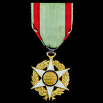France: Order of Agricultural Merit, Knight Grade, silver, silver-gilt and enamels. Of fairly rec...