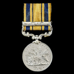South Africa Medal 1877-1879, Clasp: 1879, awarded to Private H. Metcalf, 1st or King's Dragoon G...