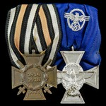 Germany – Imperial and Third Reich Police pair of awards: Honour Cross 1914-1918 with Swords, rev...