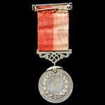 Turkey – Ottoman Empire: Iftikhar Sanayi Medal in Silver, attached to a top bar, and unnamed as i...