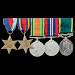Second World War Burma and Territorial long service group awarded to Lieutenant and Honorary Capt...