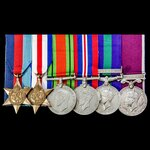 Second World War North West Europe, Malayan Emergency and long service group awarded to Warrant O...