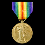 Victory Medal awarded to Private R. Deahl, 1st/6th Battalion, Royal Warwickshire Regiment, Territ...