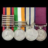The regimentally very fine Regimental Sergeant Major's South Africa Boer War Natal and Relief of ...