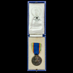 Ethiopia - Medal of the Patriot Refugees 1936-1941, made by Mappin & Webb Ltd of London, and in M...