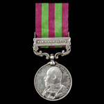 India General Service Medal 1895-1902, 1 Clasp: Waziristan 1901-2, awarded to Moharrir Kambar Ali...