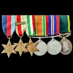Second World War North Africa 8th Army and Italy campaign Territorial long service group awarded ...