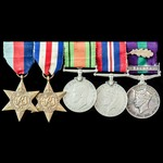 Second World War North West Europe and Malayan Emergency April 1949 Mention in Despatches group a...