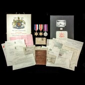   A most complete and hence scarce Second World War Tunisia 8th Army Casualty group awarded to P...