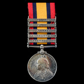 Queen's South Africa Medal 1899-1902, 5 Clasps: Cape Colony, Orange Free State, Transvaal, South ...