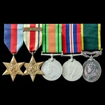 Second World War North Africa 1st Army and Territorial long service group awarded to Lieutenant l...