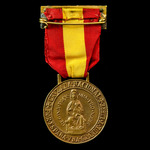 Spain - Franco period: Commemorative Medal of the Province of Vizcaya  1936-1939, bronze, complet...