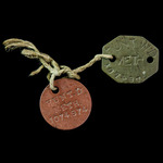 British Army Dog Tags both stamped up to W.D. Hunt (No.7074974), British Army, who was a Methodis...