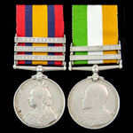 Boer War Colesberg New Years Day 1900 Casualty pair awarded to Private M. Loveridge, 2nd Battalio...