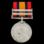 Queen's South Africa Medal, 2 Clasps: Cape Colony, Orange Free State awarded to Private L.J. Lawr...
