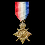 1914-1915 Star awarded to Private G.H. Hunnam, Yorkshire Light Infantry, who saw service on the W...