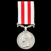 Indian Mutiny Medal 1857-1859, no clasp, awarded to Private Robert Ditch, 17th Lancers, who was p...