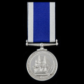 Royal Navy Long Service and Good Conduct Medal, EIIR bust, awarded to Leading Steward T. Hall, wh...